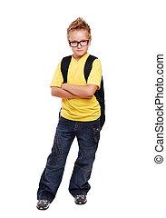 Full length portrait of a schoolboy