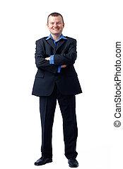 Full length portrait of a Smiling Man.