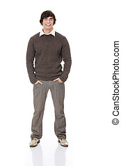 Full length portrait of a stylish young man standing