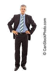 Full length portrait of a successful mature business man