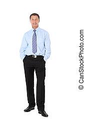 Full length portrait of a successful mature business man...