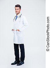 Full length portrait of a young male doctor
