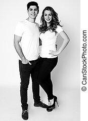 Full length portrait of an attractive couple