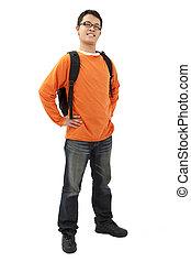 Full length portrait of Asian student