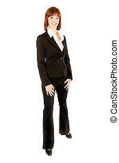 Full length portrait of beautiful business woman