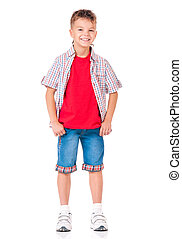 Full length portrait of boy