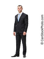 Full-length portrait of business man