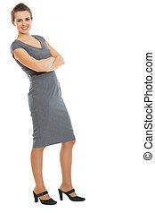 Full length portrait of business woman