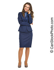 Full length portrait of business woman