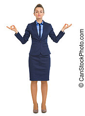 Full length portrait of calm business woman