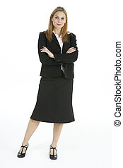 Full Length Portrait Of Female Executive - Full Length...
