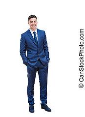 Full length portrait of handsome businessman.