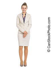 Full length portrait of happy business woman