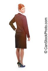 full-length portrait of modern business woman.