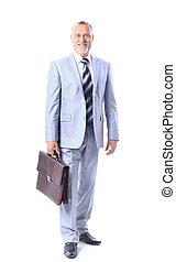 full-length portrait of stylish bu
