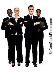 Full length shot of business team