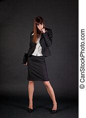 Full length shot of business woman