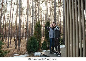 Full-length shot of couple