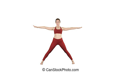 on alpha matte top view crescent lunge on the knee yoga