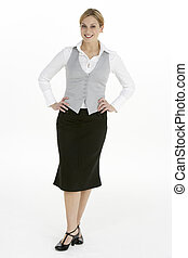 Full Length View of Female Business Woman