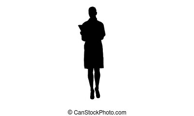 Silhouette Medicine, pharmacy, people, health care and...
