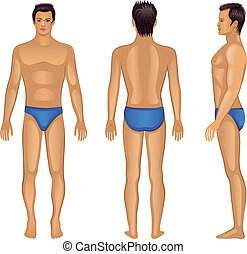 Full length views of a standing man
