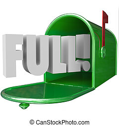 Full Mail Inbox Spam Junk Messages Overflowing Communication...
