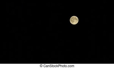 Full moon at black sky