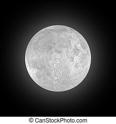 Full Moon - Full moon in the night sky