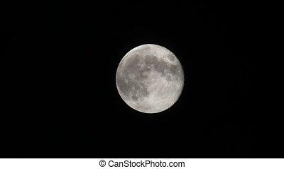 full moon in clear summer night