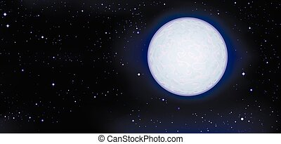 full moon in space
