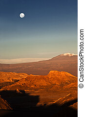 Full-moon in the Moon Valley, Atacama, Chile