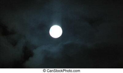 Full Moon Night Sky at Lake Baikal. Olkhon island.
