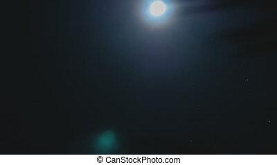 full moon night sky. moon time lapse