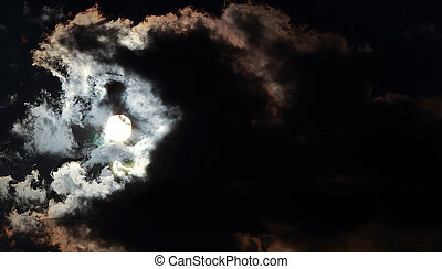 full moon on a dark night