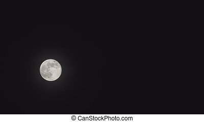 Full moon on black background that see details on the...