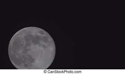 Full moon on black background that see details on the ...