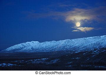 Full Moon over Alaska Range
