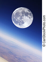 Full Moon Over Earth's Stratosphere