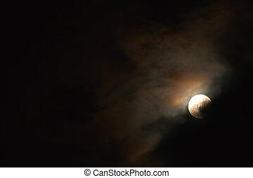 Full Moon Phase - Moonlight, Blood Moon Phase On The Dark ...