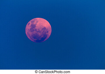 Full Moon Pink Red - Full moon with red pink colour...