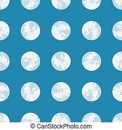 Full Moon Seamless Vector Pattern