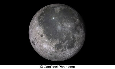 Full Moon Spin Realistic - A seamless loop of the Moon doing...
