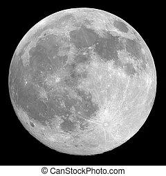 Full moon background isolated on black