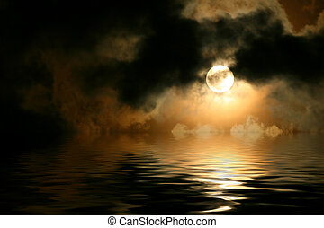 Full moon cloudscape