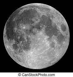 The full Moon, photographed through a 0.2-metre telescope
