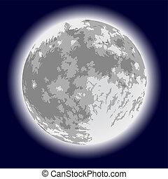 Full moon. Vector illustration.