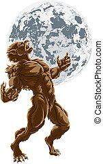 Full Moon Werewolf Scary Horror Monster