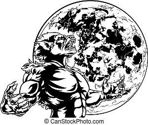 Full Moon Werewolf Scary Monster