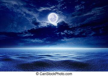 Full moon, winter weather
